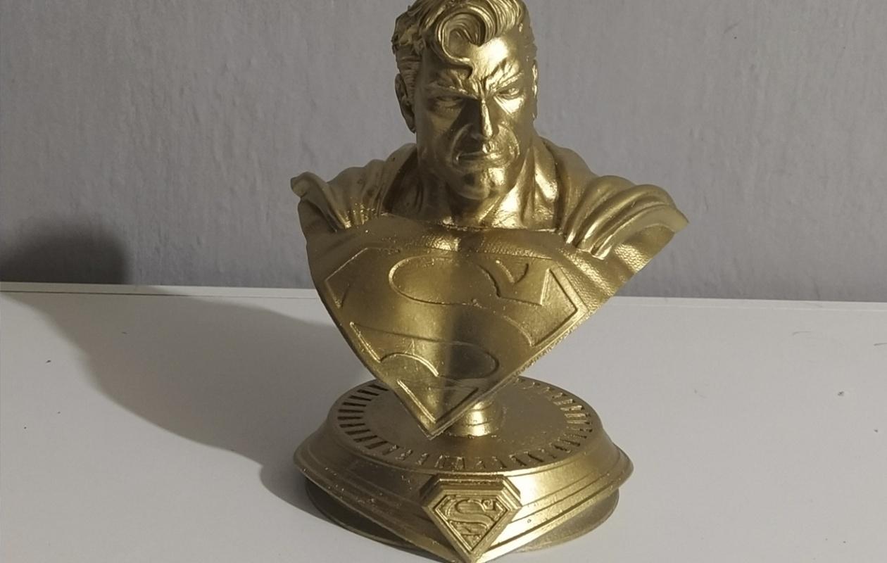 Impressão 3D Busto Super Man3